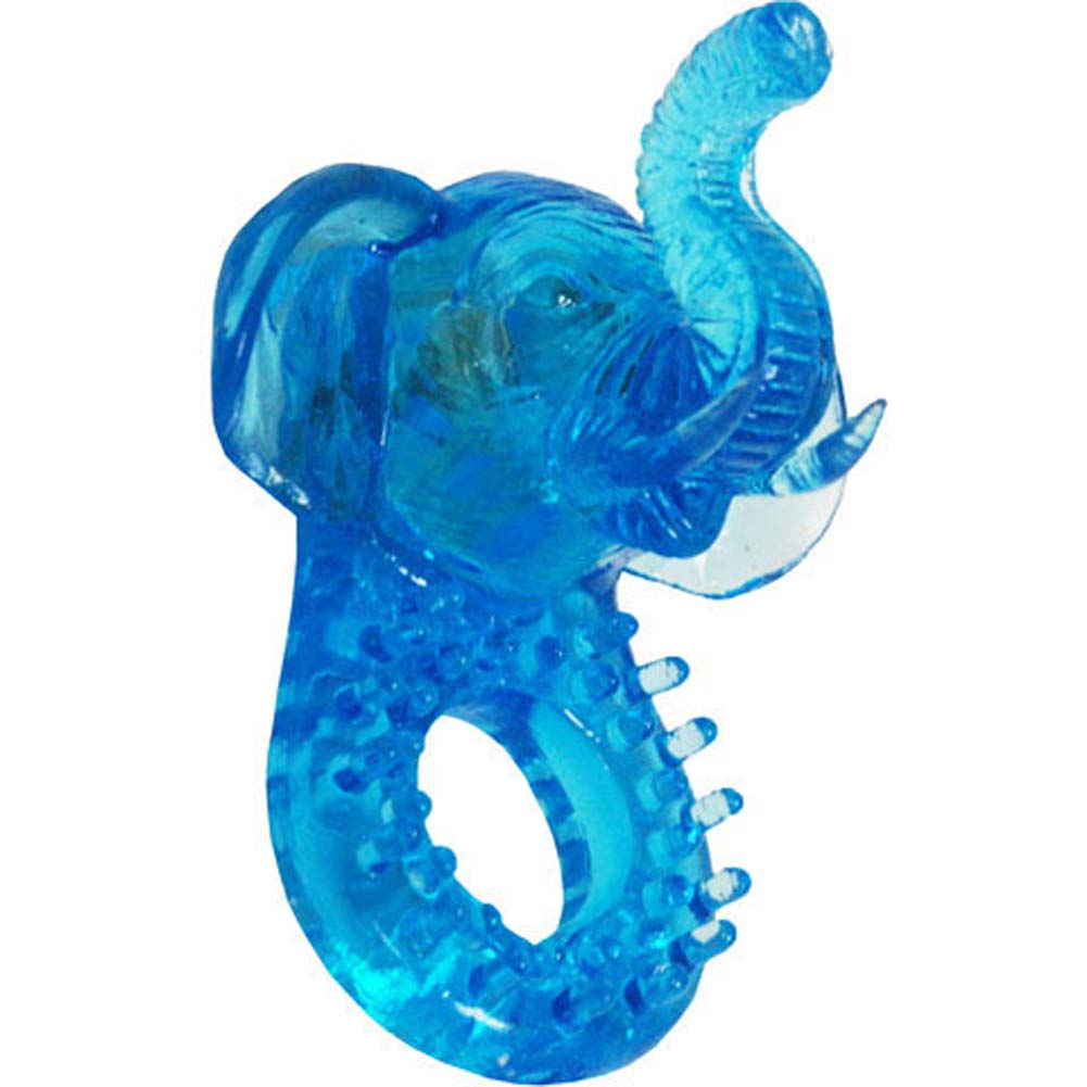 Animal Instinct Jelly Elephant Cockring with Clitoral Vibe - View #2