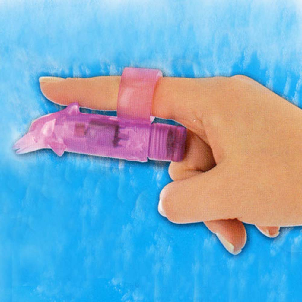 Waterproof Finger Fun Dolphin Mini Vibe Purple 3.25 In. - View #3