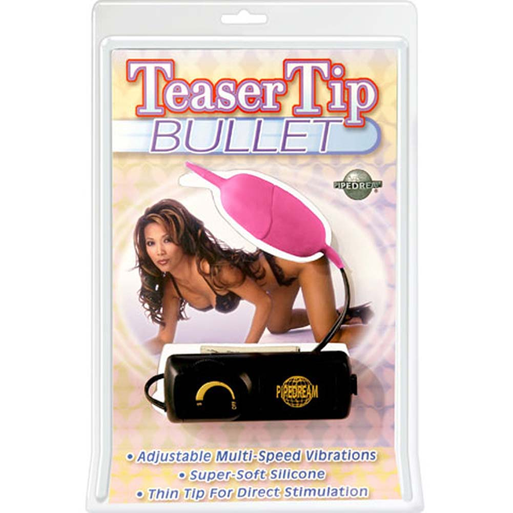Teaser Tip Vibrating Silicone Bullet Pink 3.25 In. - View #1
