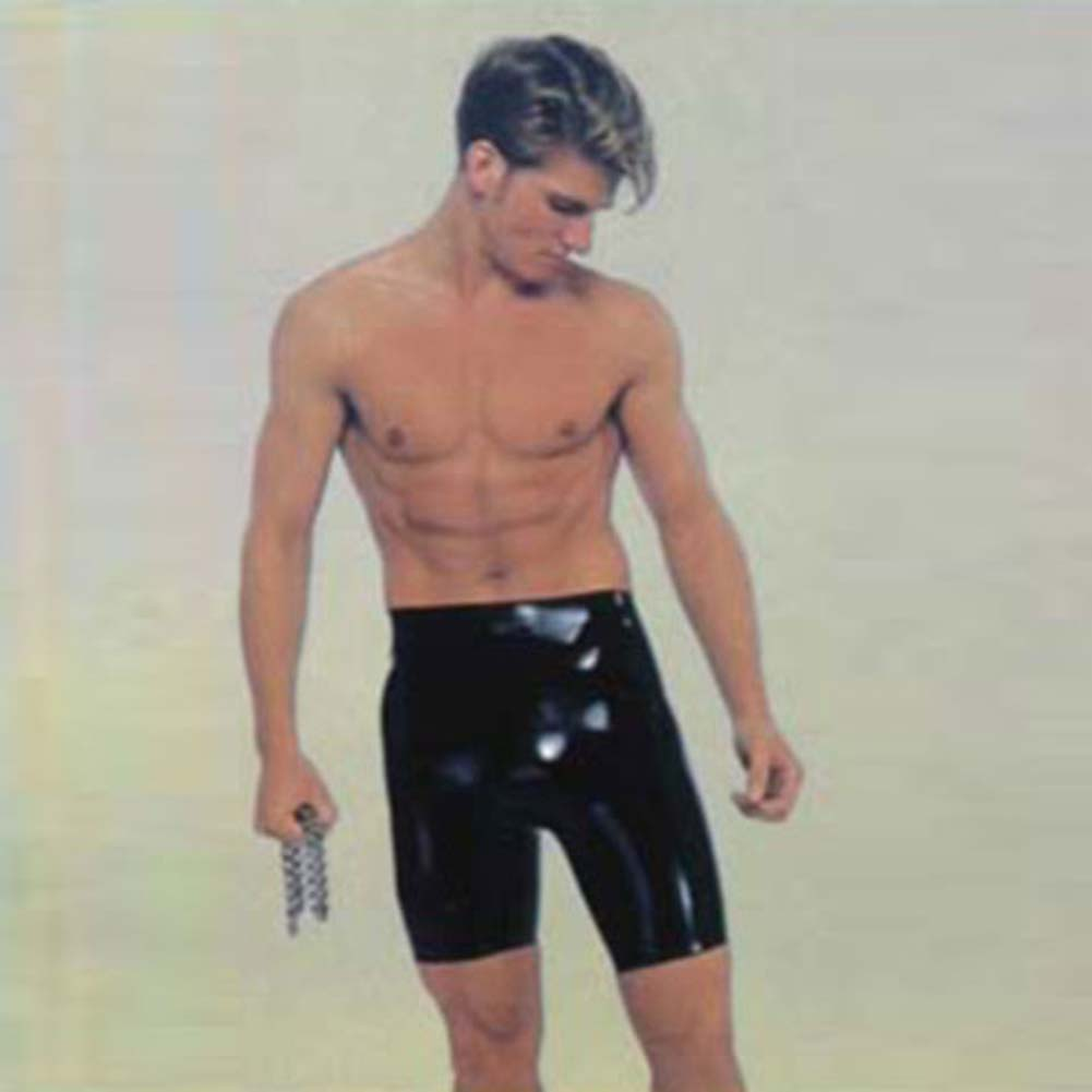 Latex Rubba Wear Bermuda Shorts Black - View #2