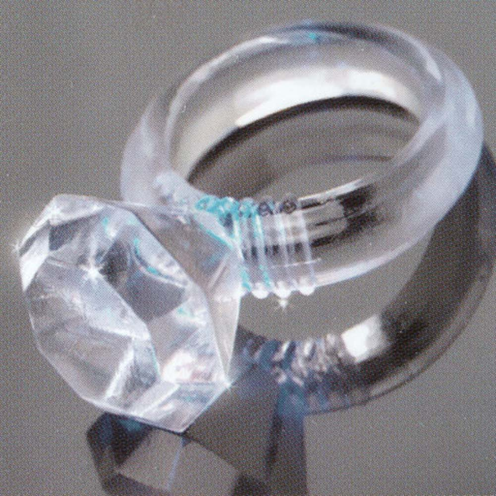 Last a Lifetime Soft Jelly Diamond Love Ring Clear - View #1