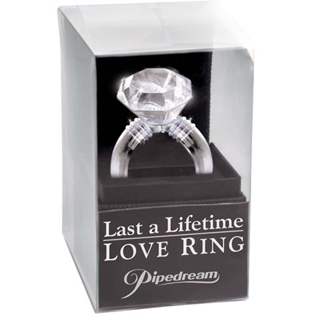Last a Lifetime Soft Jelly Diamond Love Ring Clear - View #3