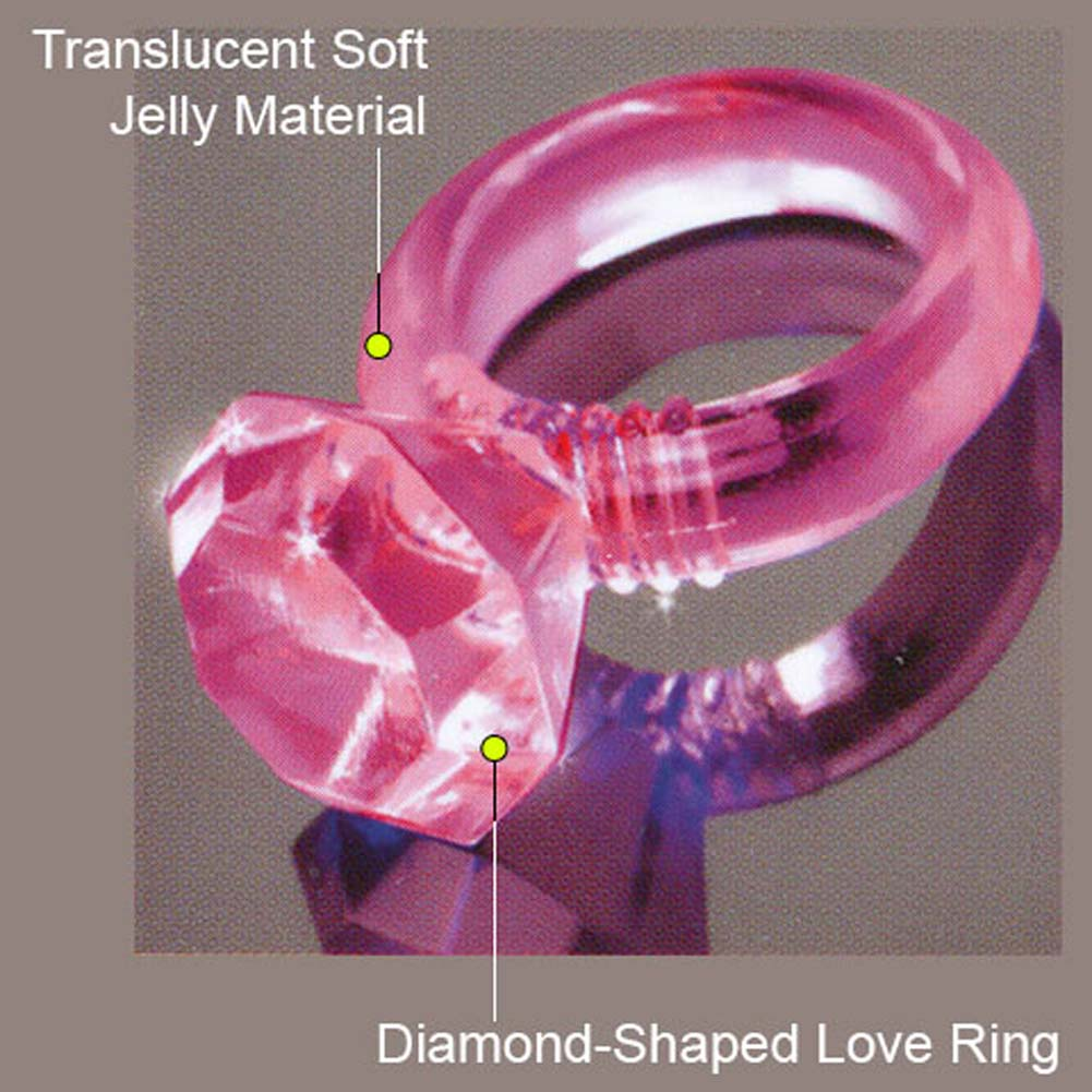 Last a Lifetime Soft Jelly Diamond Love Ring Pink - View #2