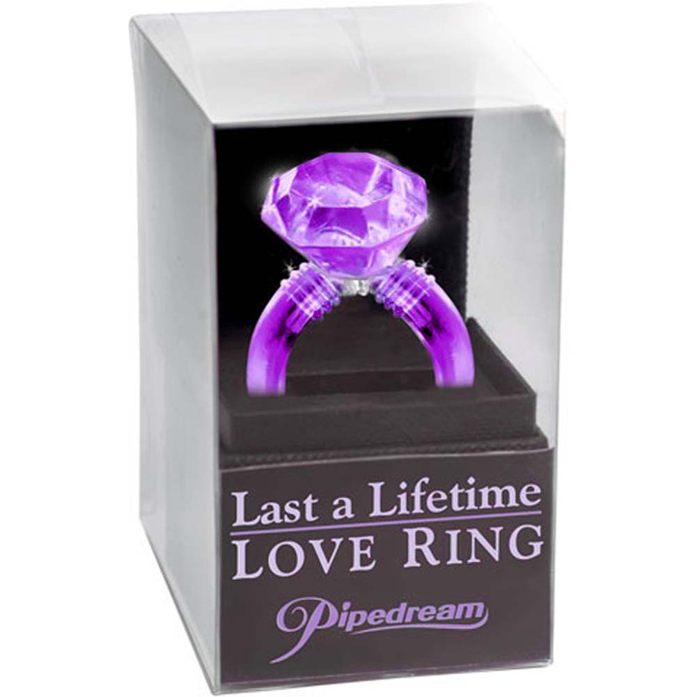 Last a Lifetime Soft Jelly Diamond Love Ring Purple - View #3