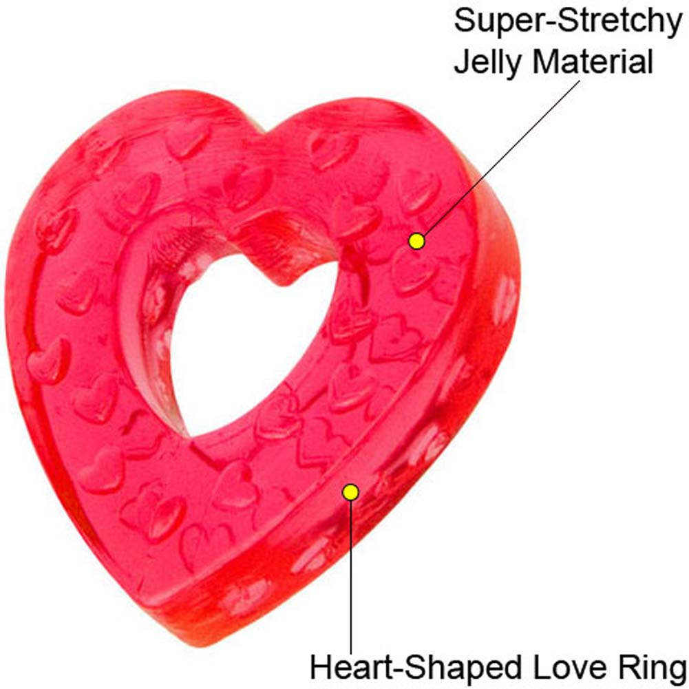 Heart On Luv Jelly Erection Ring - View #2