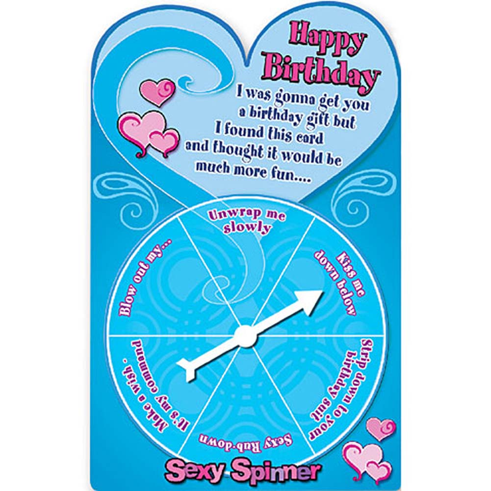 Sexy Spinner Happy Birthday Card Game - View #1