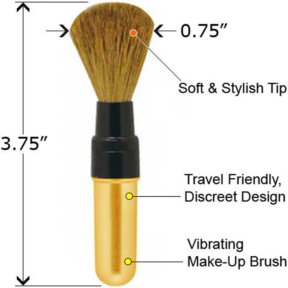 Vibrating Make Up Brush Gold - View #2