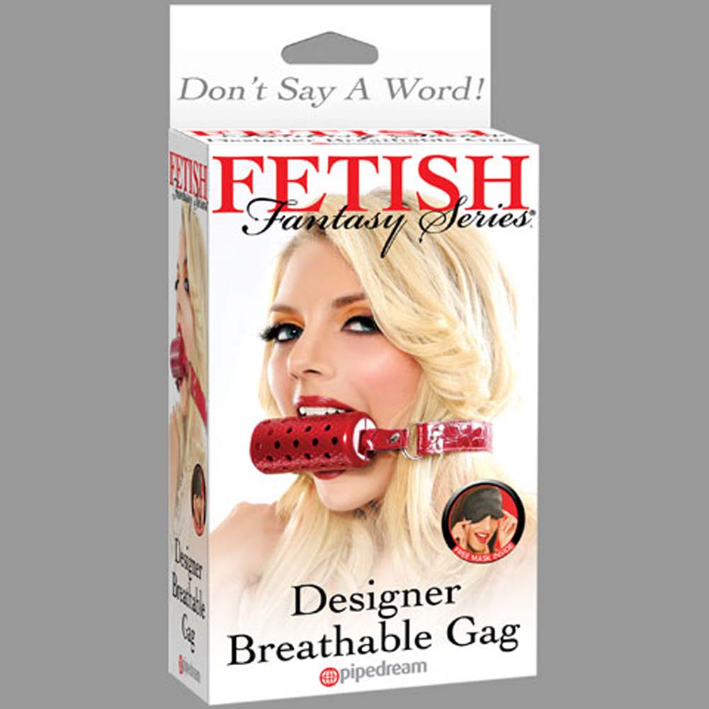 Fetish Fantasy Series Designer Breathable Gag Red - View #4