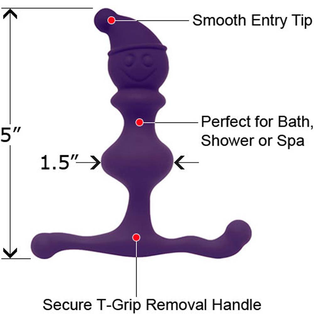 "Jack in the Crack Waterproof Anal Stimulator 5"" Purple - View #1"