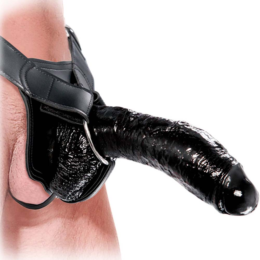 "Fetish Fantasy Extreme Hollow Strap-On Dong 10"" Black - View #2"