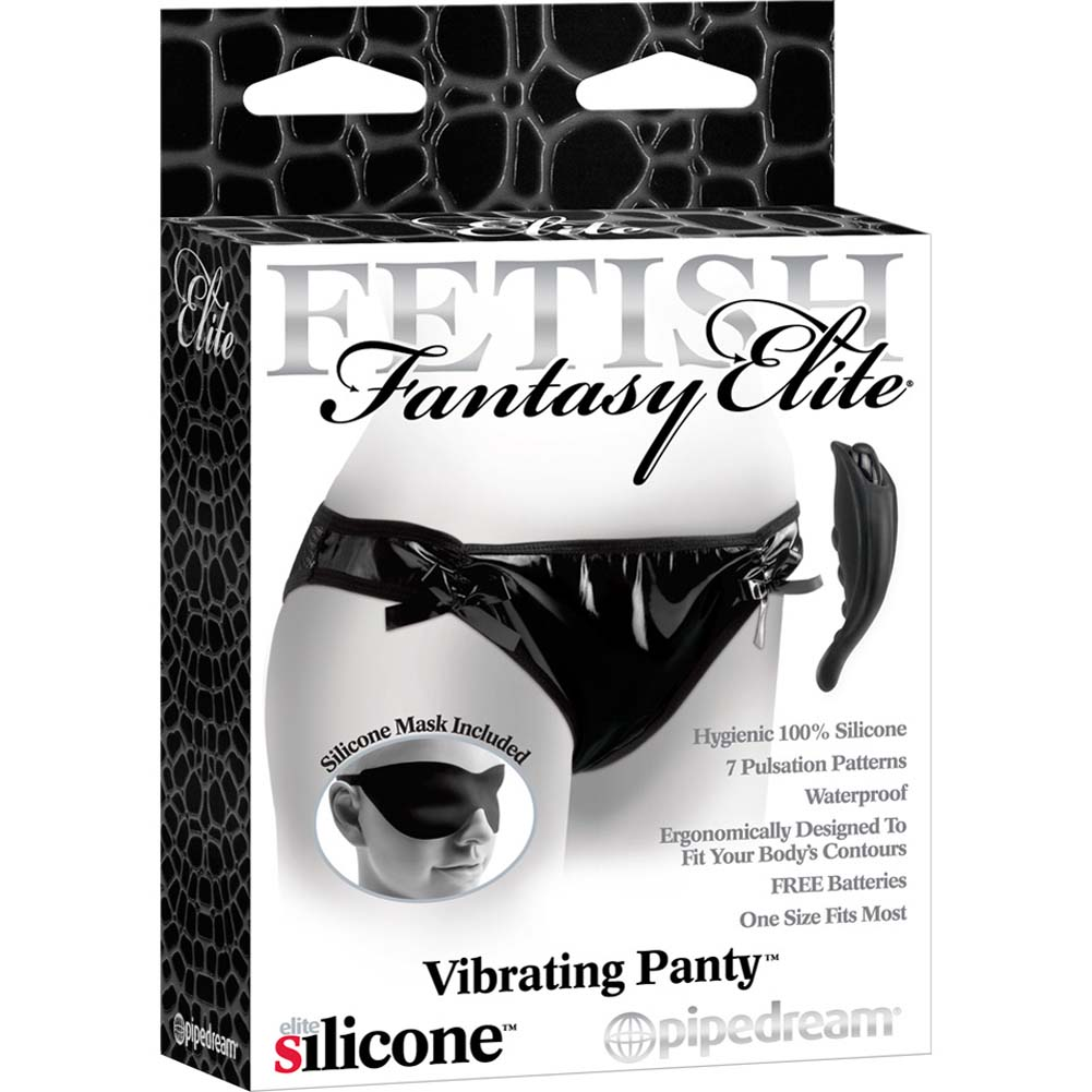 Fetish Fantasy Elite Vibrating Panty Black - View #4