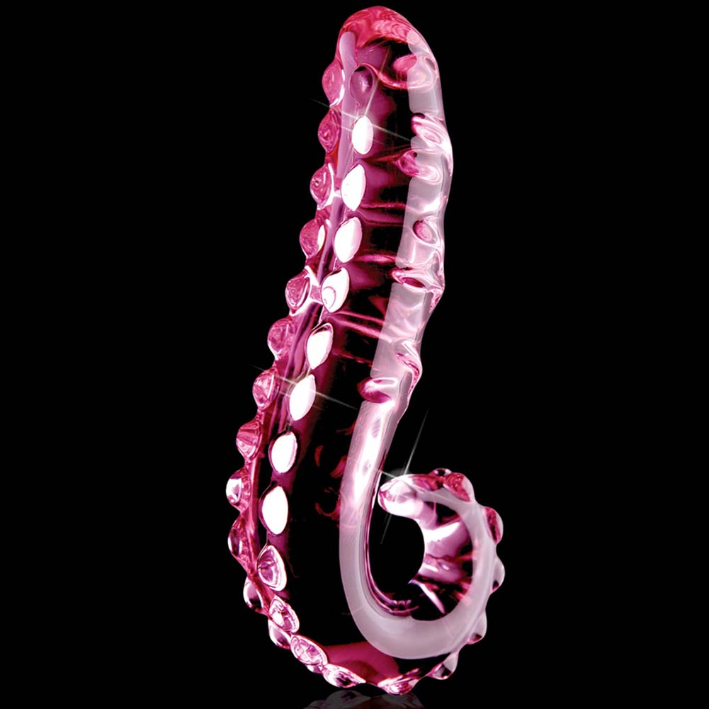 "Icicles No. 24 Glass G-Spot Curved Dong 6"" Light Pink - View #2"