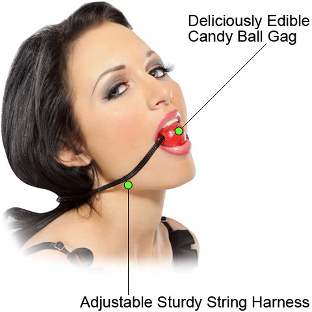 Fetish Fantasy Series Candy Ball Gag Red - View #1