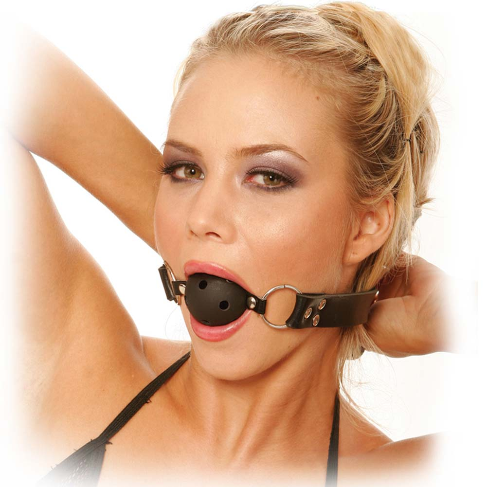 Fetish Fantasy Series Breathable Ball Gag Black - View #2