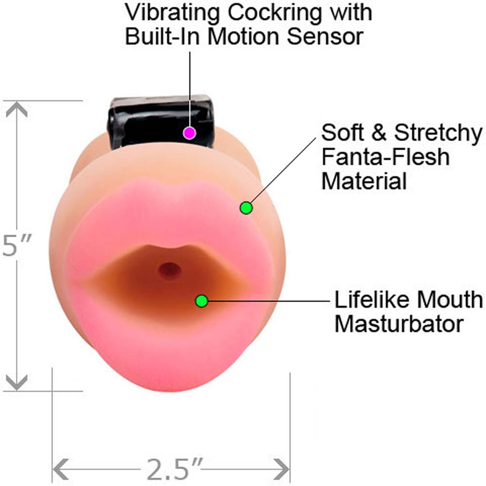 Pipedream Extreme Oral Cocktrainer System Vibrating Stroker - View #1
