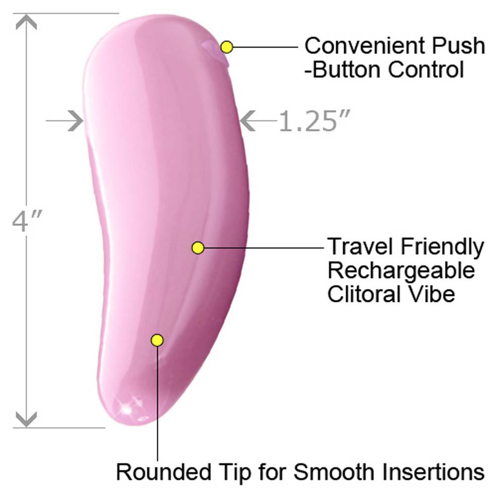 """Le Reve Waterproof Rechargeable Personal Vibrator 4"""" Sensual Pink - View #1"""