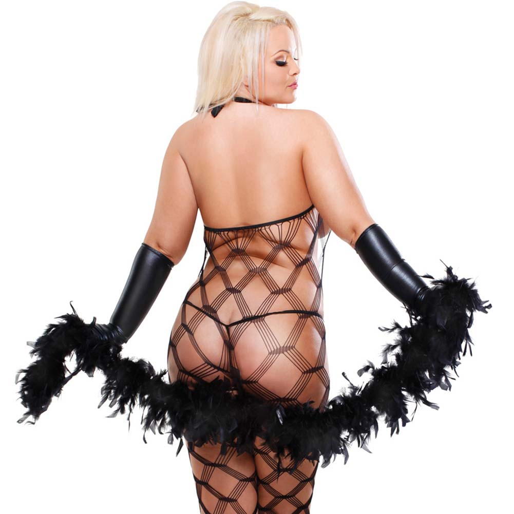 Fetish Fantasy Lingerie Dream Weaver Set Diva Size Black - View #2