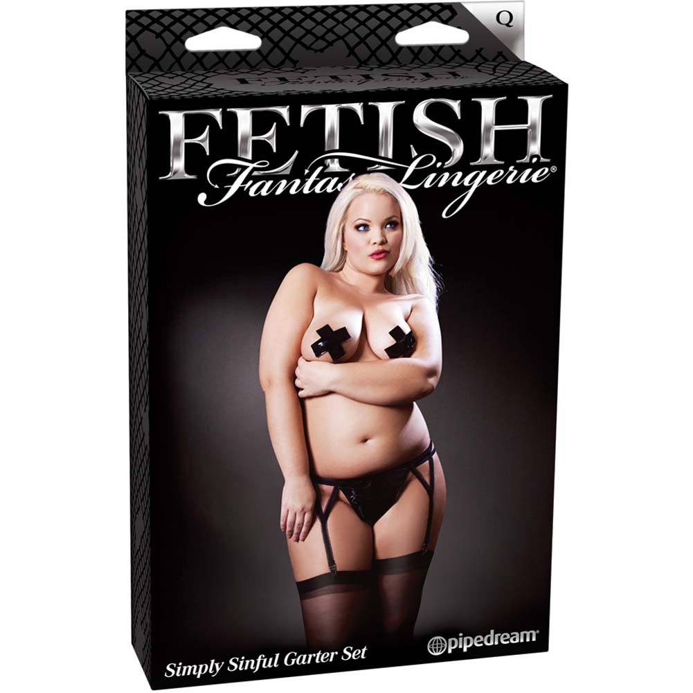 Fetish Fantasy Lingerie Simply Sinful Garter Set Plus Size - View #4