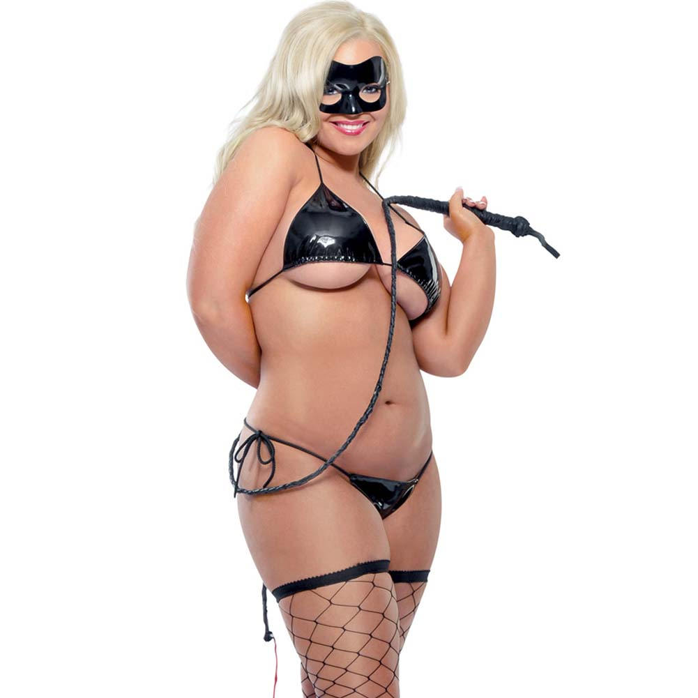 Fetish Fantasy Lingerie Karnal Kitty Set Diva Size Black - View #1