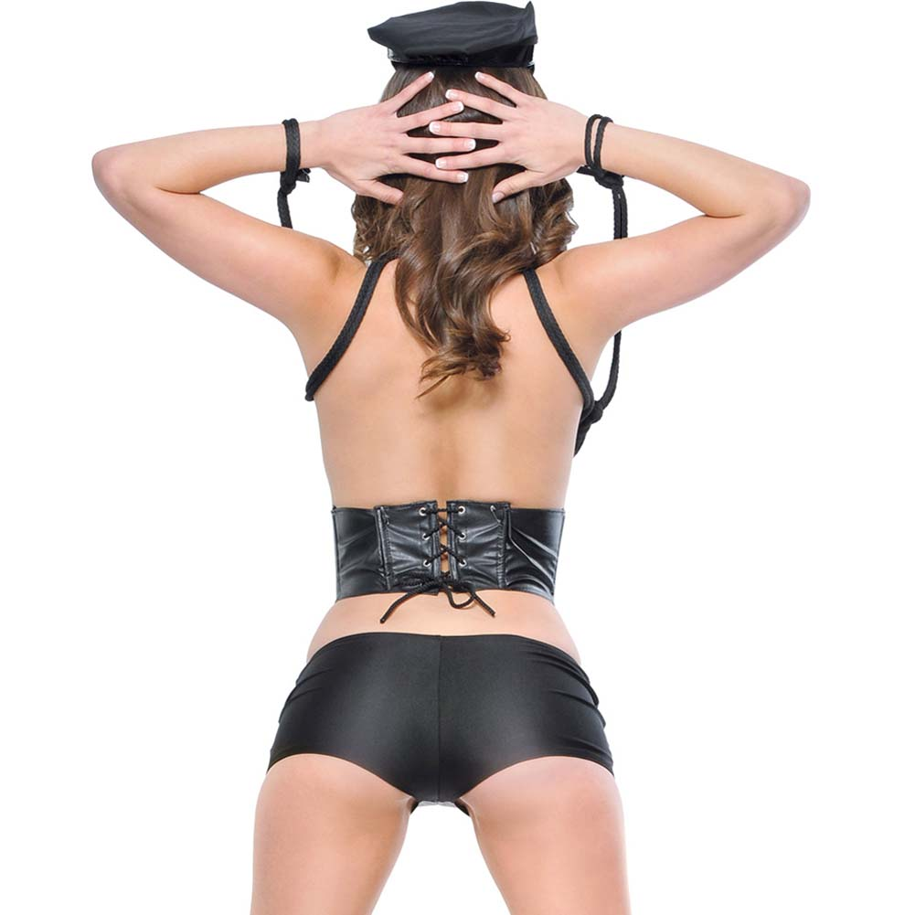 Fetish Fantasy Lingerie Bad Cop Costume One Size Black - View #2