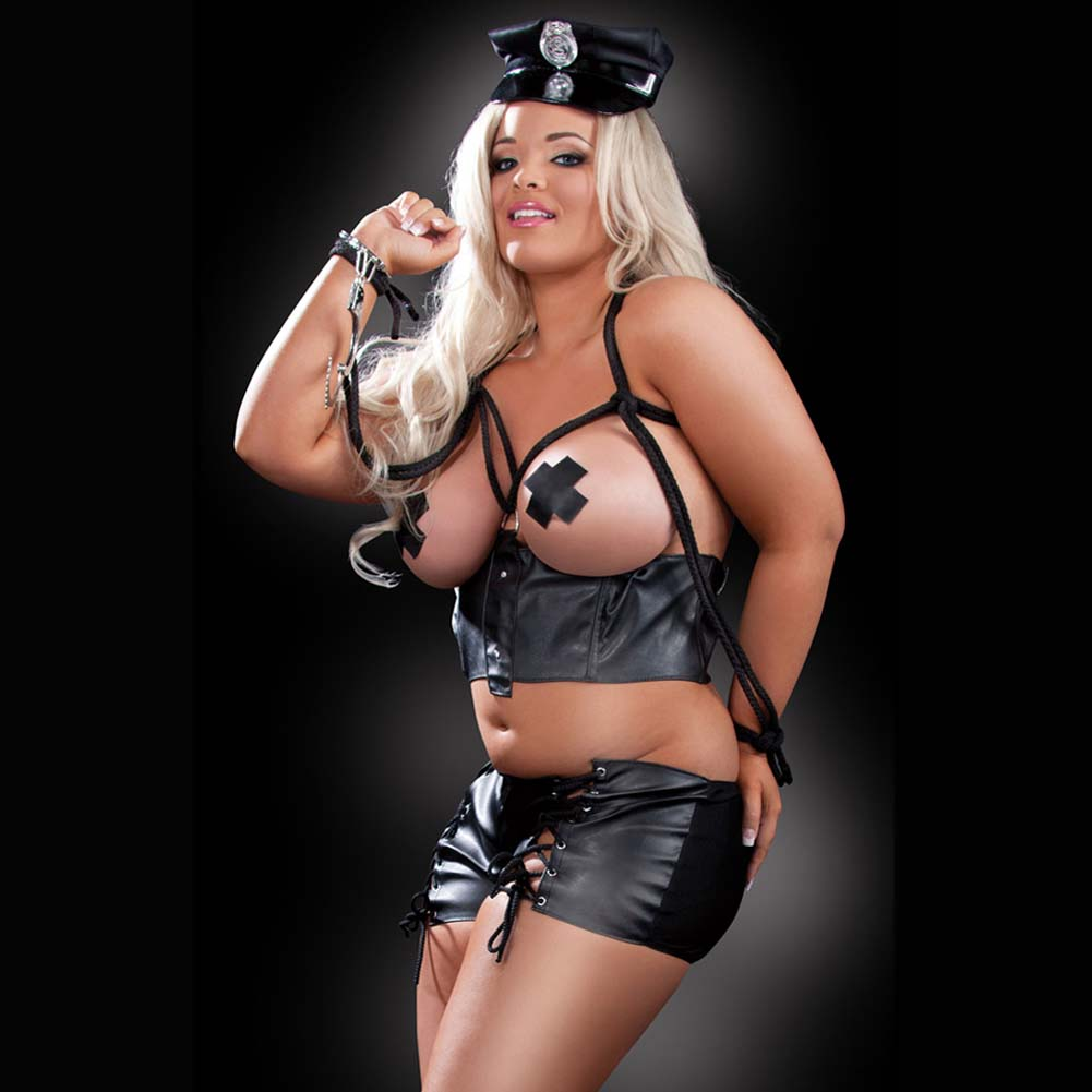 Fetish Fantasy Lingerie Bad Cop Costume Plus Size - View #3