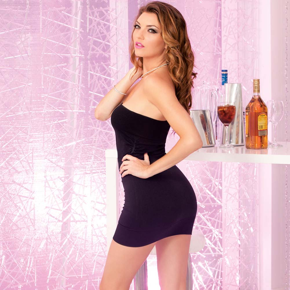 Pink Lipstick Perfect Mini Tube Dress One Size Black - View #2