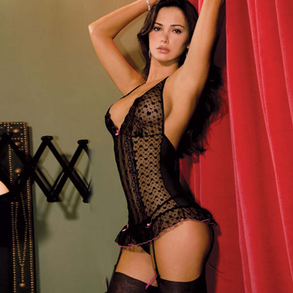 Lace Halter Merry Widow and Thong Set Small/Medium - View #2