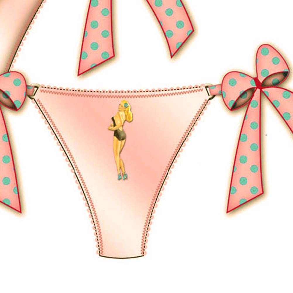 Centerfold Side Bow Thong Medium Pink - View #2