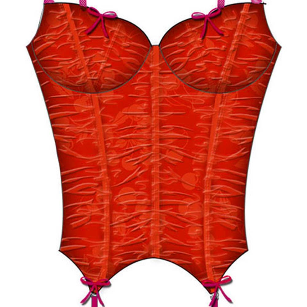 Cherry Pie Underwire and Boning Bustier 36C Red - View #3