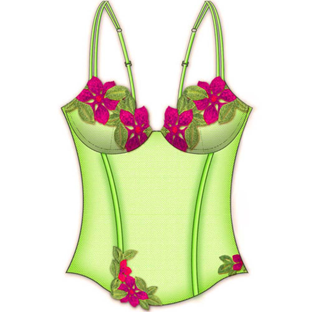 Wildflower Boned Princess Line Corset 34A Lime - View #2