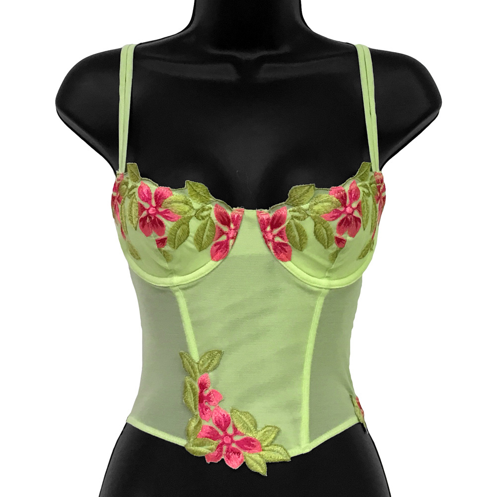 Wildflower Boned Princess Line Corset 34B Lime - View #1