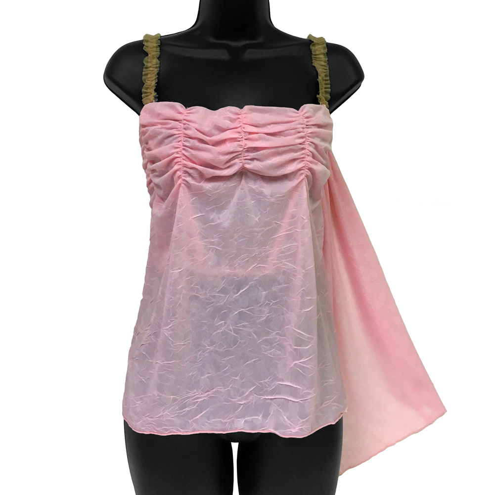 Necessary Objects Cherry Pie Relaxed Fit and Ruffled Camisole Top 34B Pink - View #1