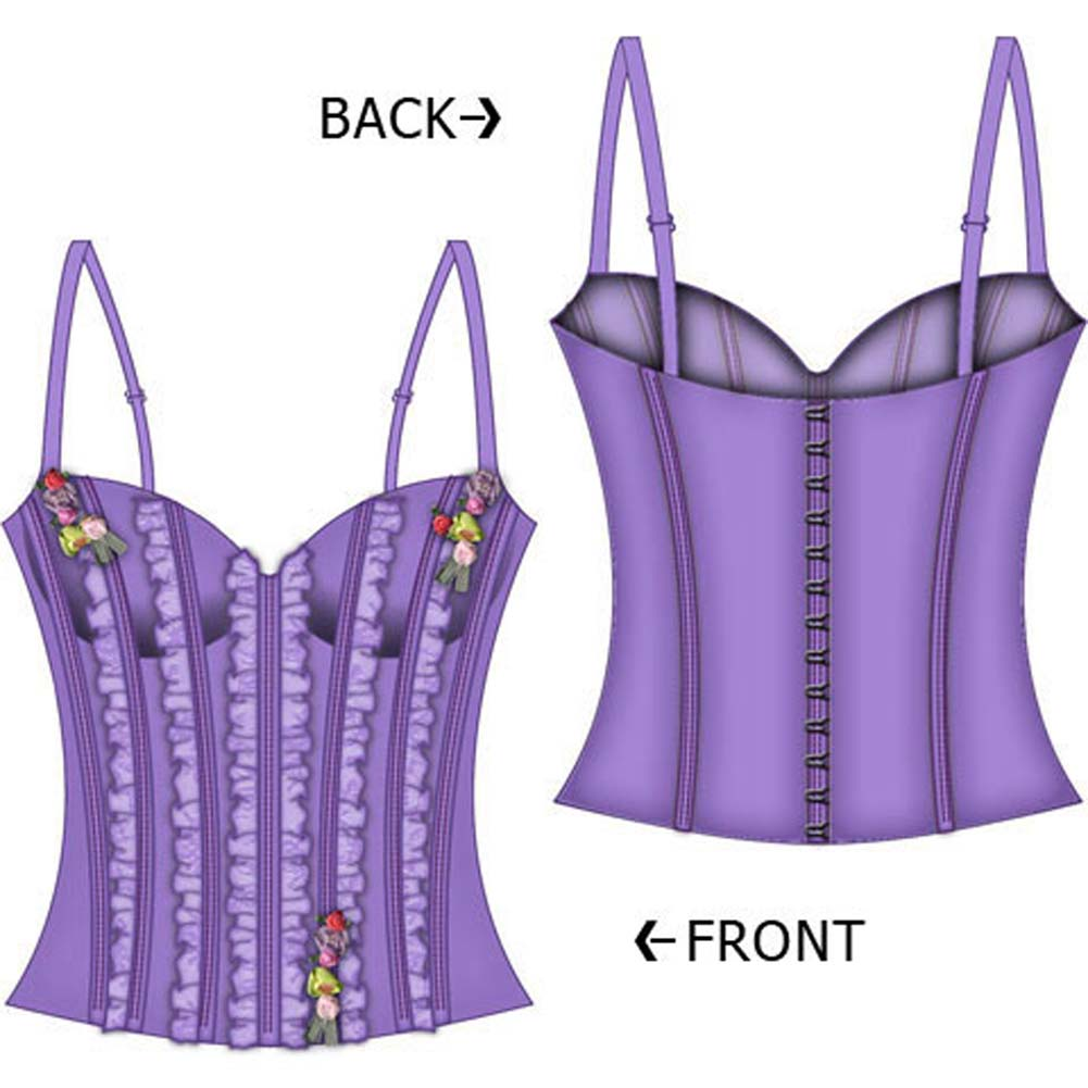 Fairy Princess Lined Boning Corset Large Lavender - View #1