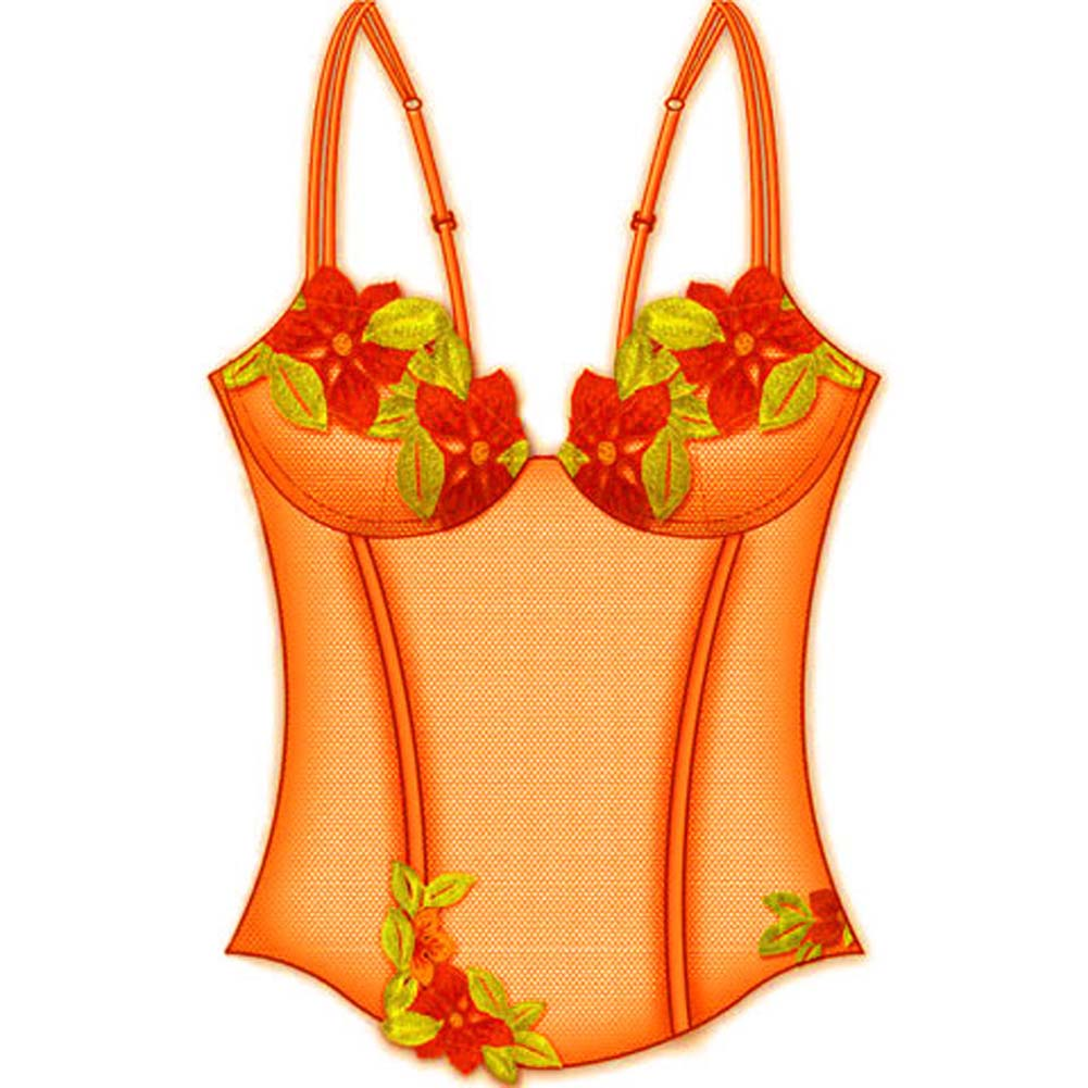 Wildflower Boned Princess Line Corset 34A Orange - View #2