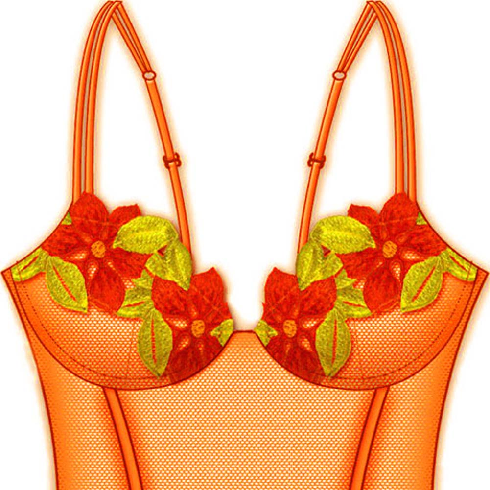 Wildflower Boned Princess Line Corset 36B Orange - View #3