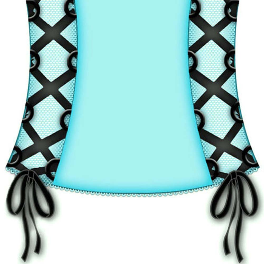 Sexy Sadie Underwire Padded Cup Corset 36C Blue - View #3