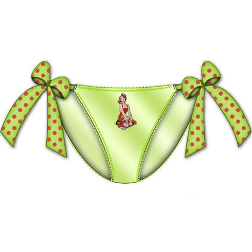 Centerfold Tied Bows Bikini Large Green - View #1