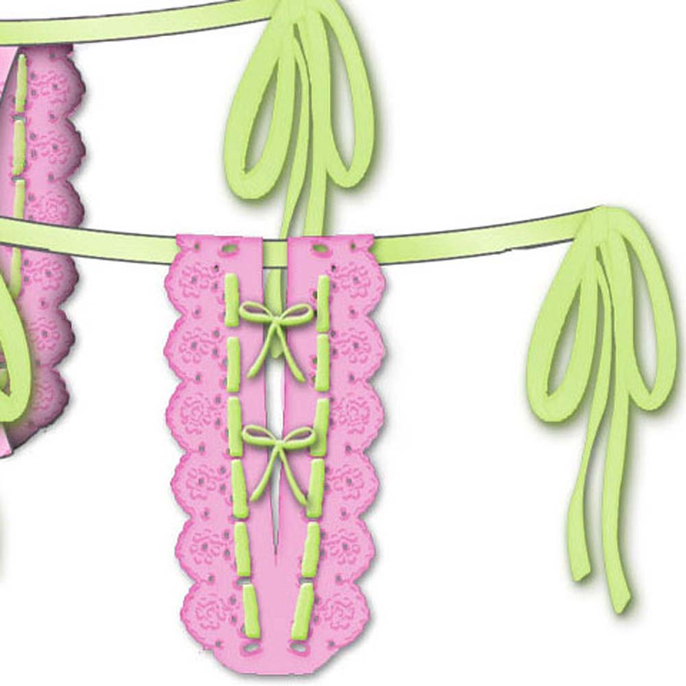 Lost In Paradise Tied Waist Thong Small Pink - View #3