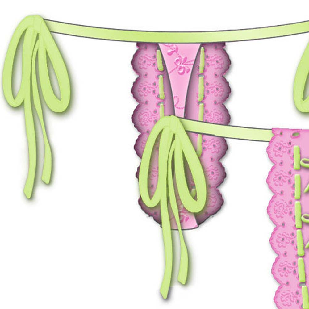 Lost In Paradise Tied Waist Thong Medium Pink - View #4