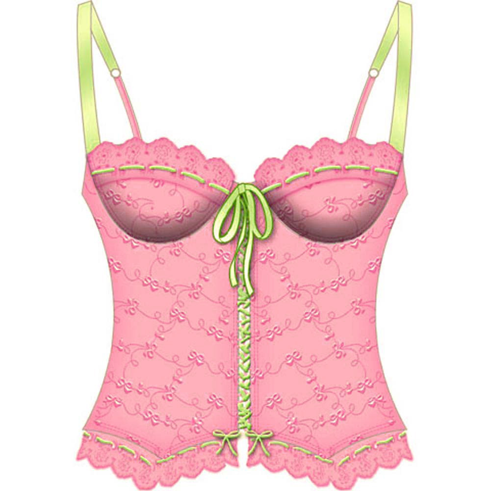 Lost In Paradise Bone Underwire Bustier 34C Pink - View #2