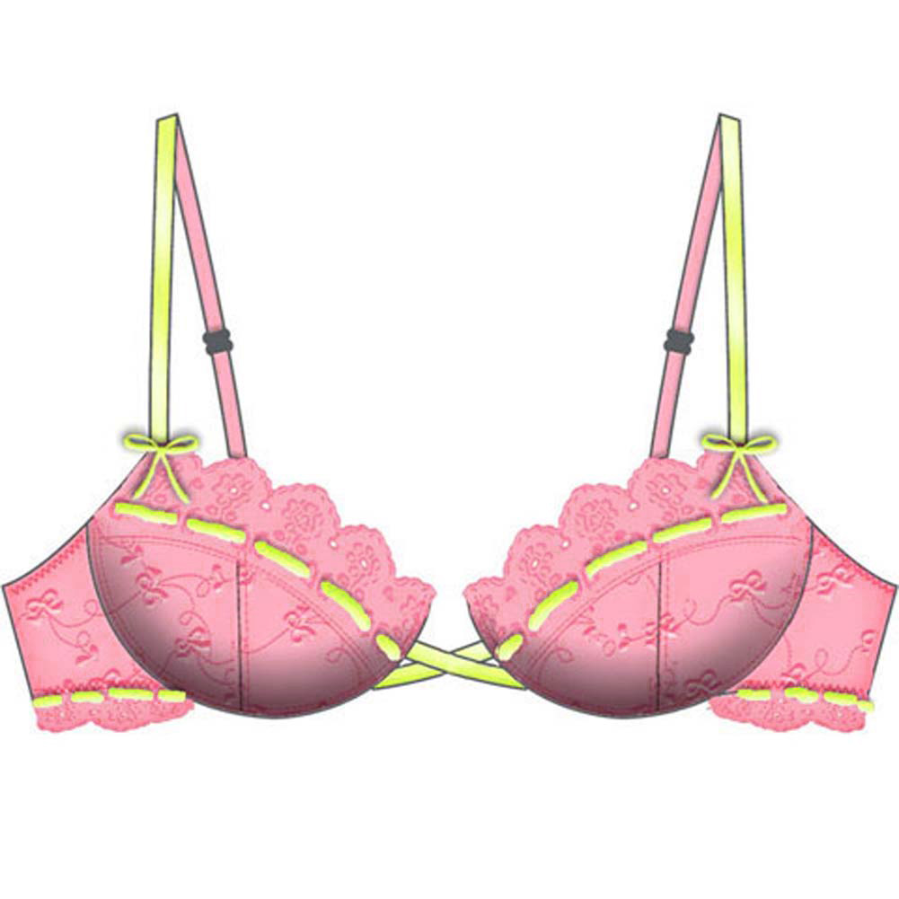 Lost in Paradise Relaxed Cup Bra 36C Pink - View #2