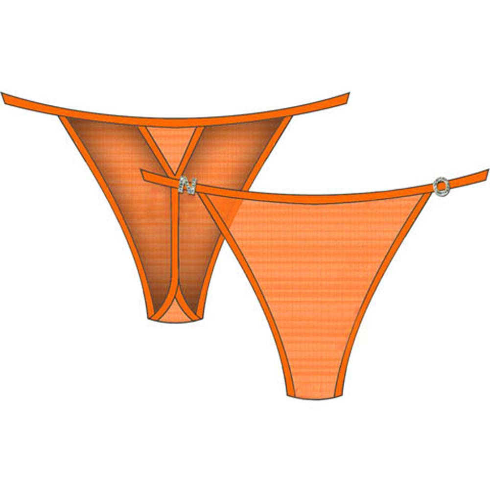 N.O. Charm String Side Thong Large Orange - View #2