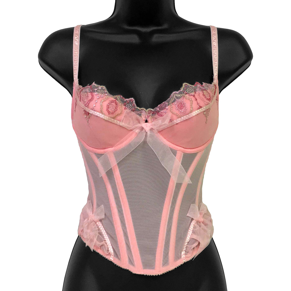 Necessary Objects Jewel of the Nile Molded Bone Corset 34A Pink - View #1