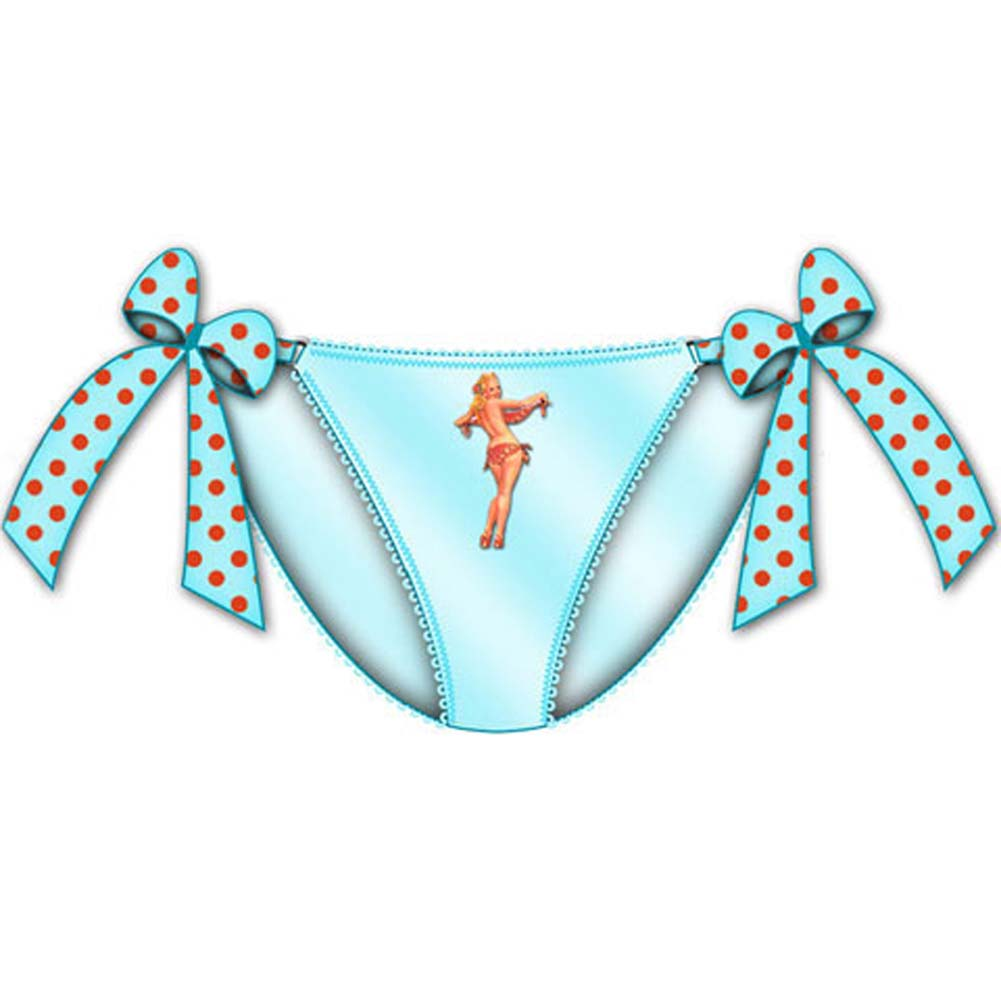 Centerfold Tied Bows Bikini Medium Blue - View #1