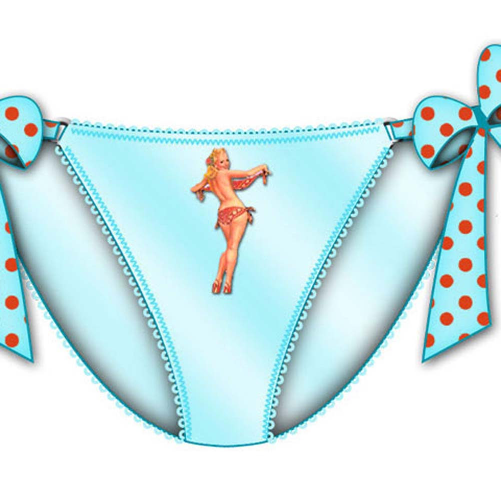 Centerfold Tied Bows Bikini Large Blue - View #2