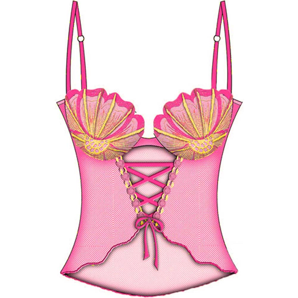 Sexy Seashell Corseted Cami with Underwire Bra 34A Pink - View #2