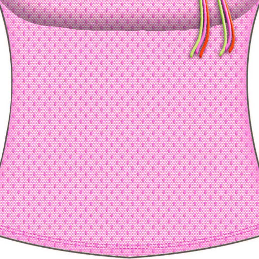 Necessary Objects Rainbow Bright Built in Bra Cami Large Fuchsia - View #3