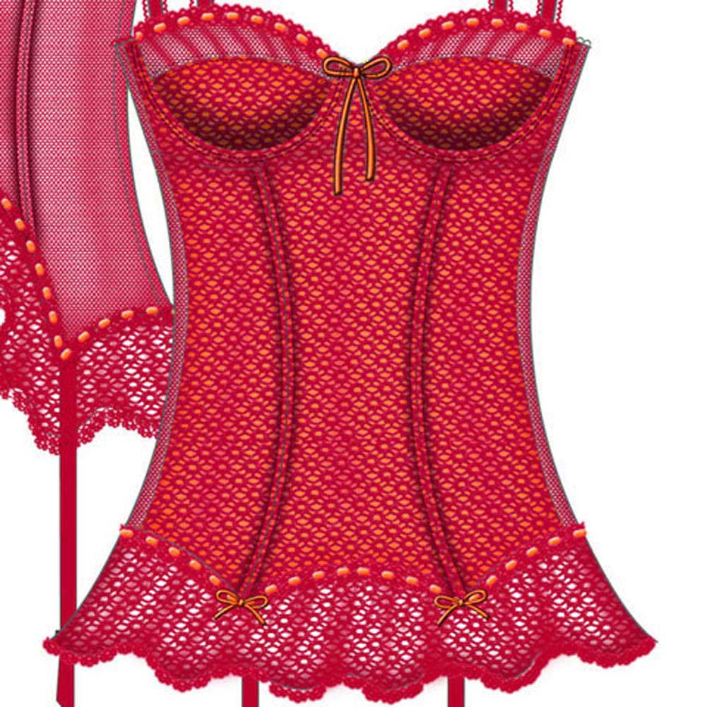 Pink and Pretty Flexible Boning Bustier 34B Pink - View #3