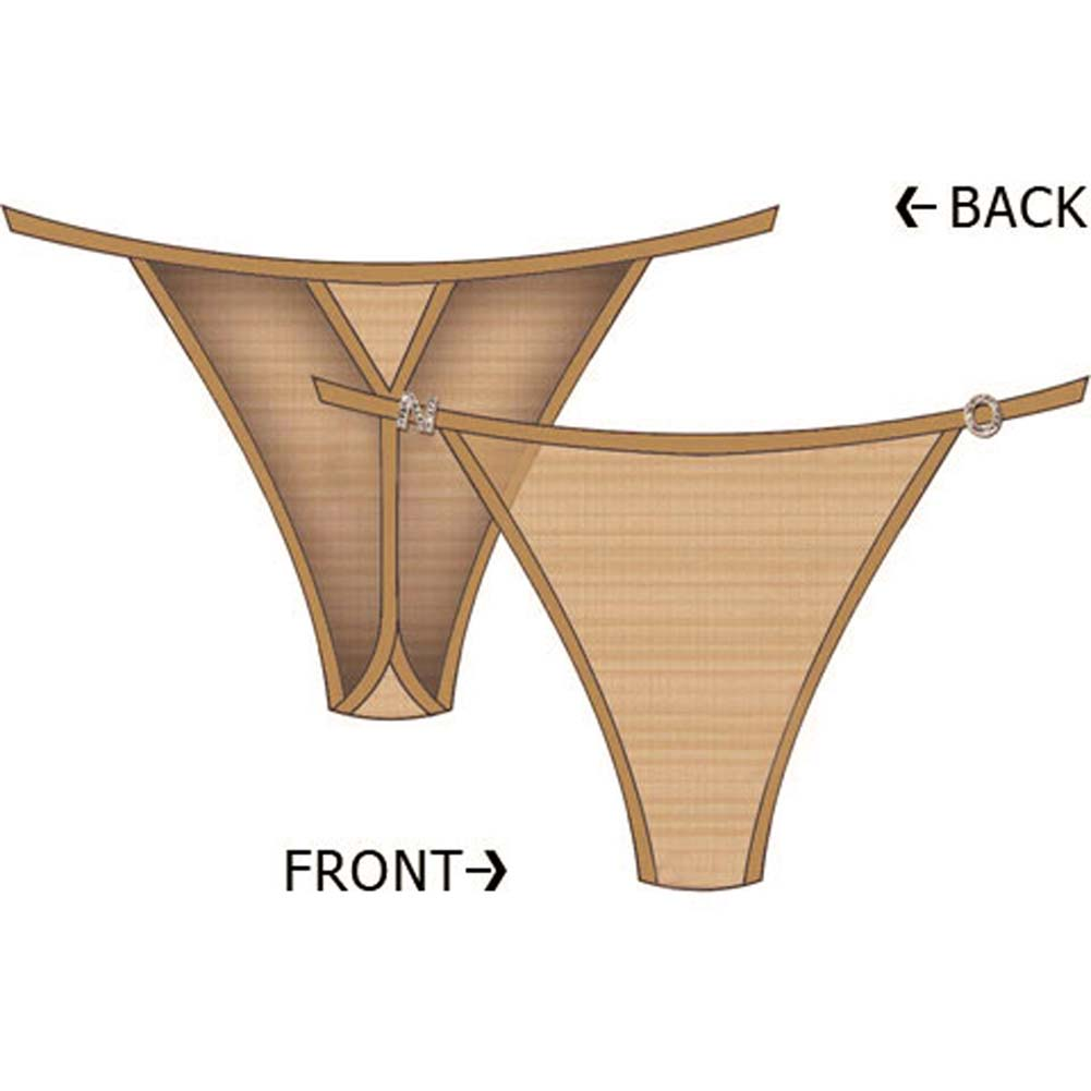 N.O. Charm String Side Thong Small Tan - View #1