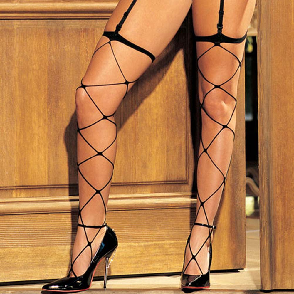 Wicked Webbing Open Bust Cami Garter 3 Piece Set - View #4